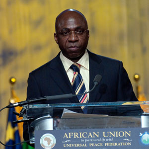 H.E. Mr. Téte António; Ambassador and Permanent Observer, Office of the Permanent Observer of  the African Union to the United Nations; at the Africa Day 2010 Celebration  in New York City